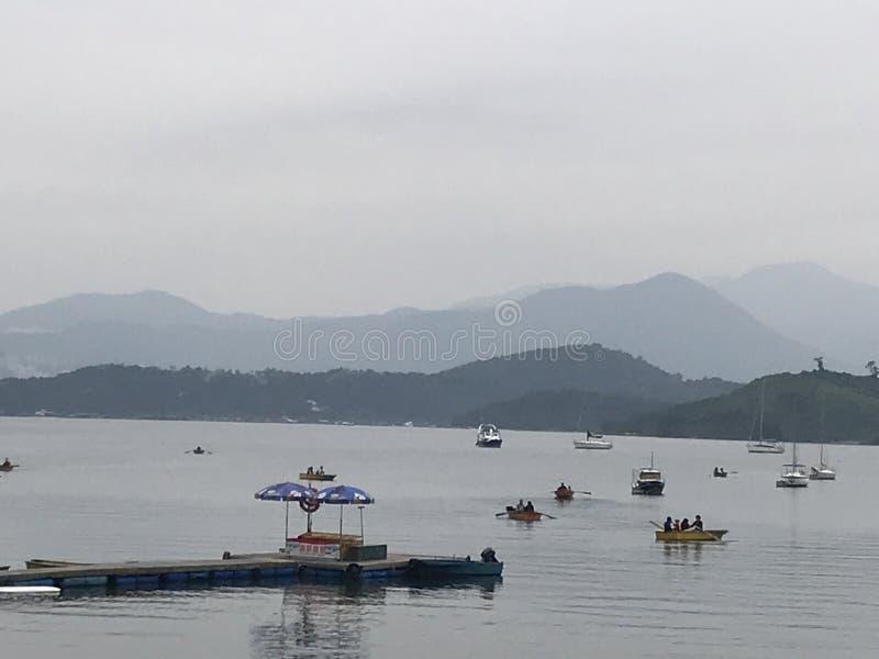 Porto de Tolo, Tai Mei Tuk, Tai Po imagens de stock royalty free