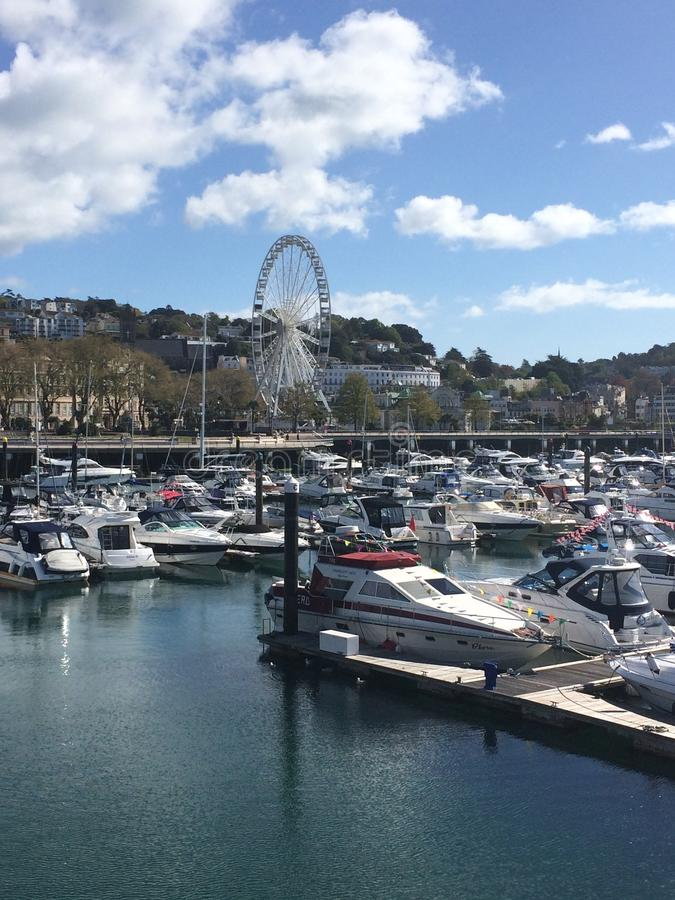 Porto de Torquay imagem de stock royalty free