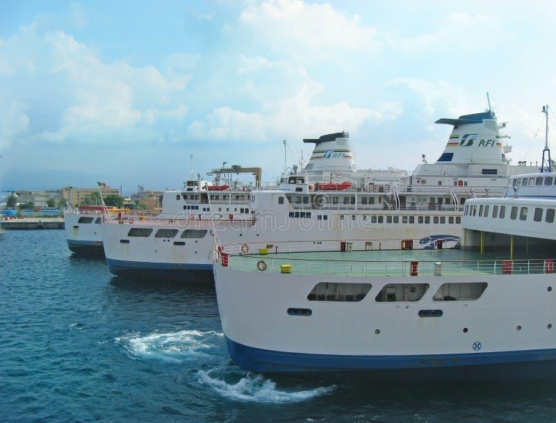 Porto de transporte Messina fotos de stock