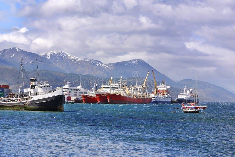 Porto de Ushuaia fotos de stock royalty free