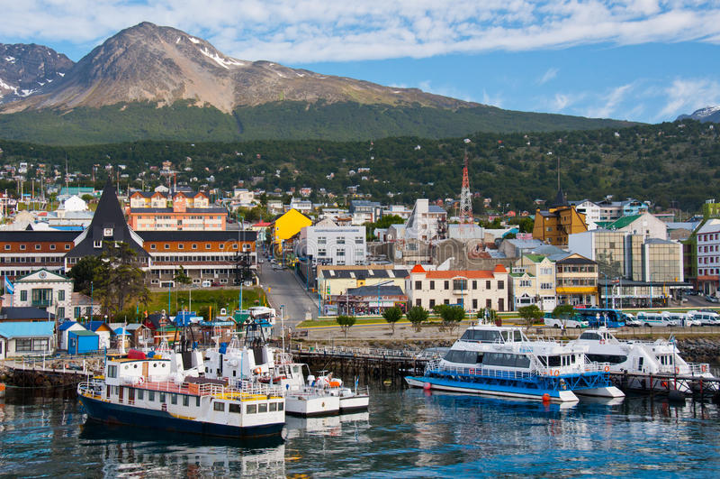 Porto de Ushuaia, Tierra del Fuego. Argentina fotografia de stock