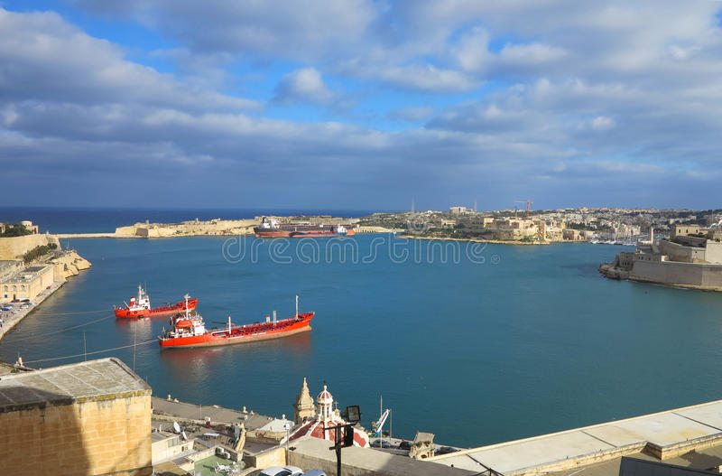 Porto de Valletta, Malta imagem de stock