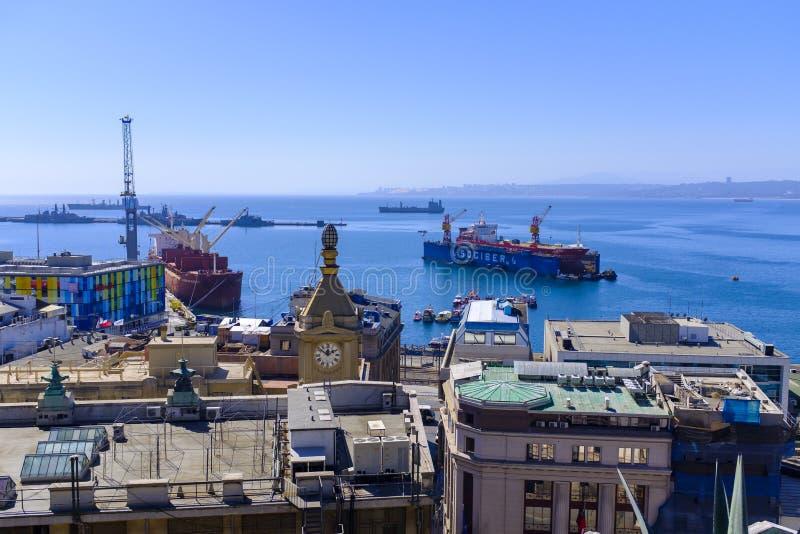 Porto de Valparaiso no Chile imagem de stock royalty free