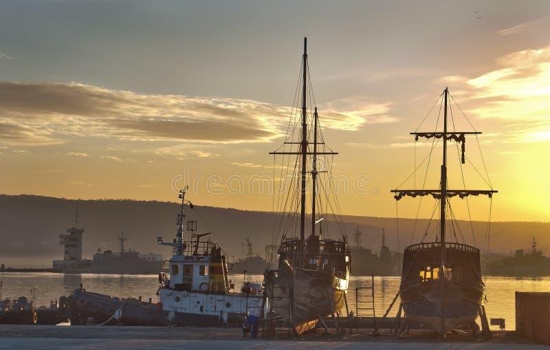Porto de Varna, Bulgária fotos de stock royalty free
