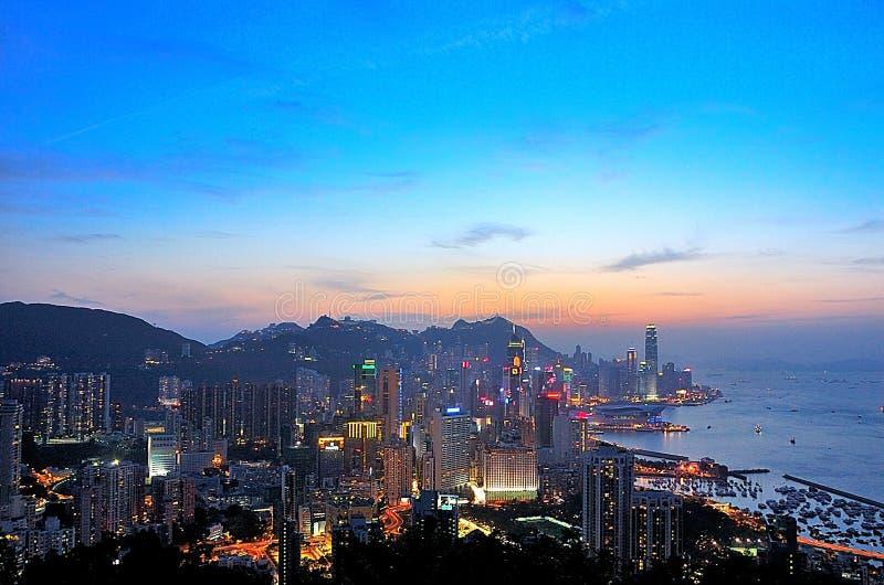Porto de Victoria na HK imagem de stock royalty free