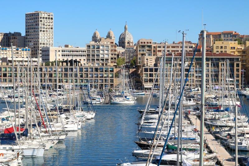Porto de Vieux em Marselha, França fotos de stock royalty free