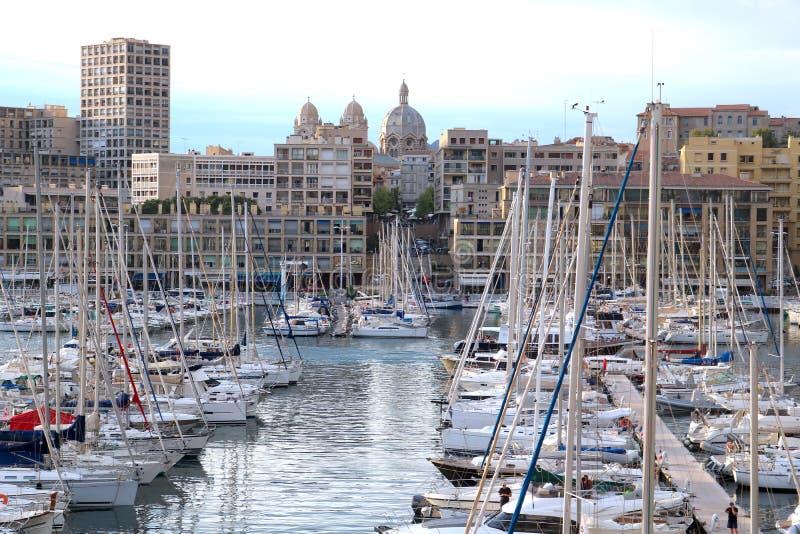 Porto de Vieux em Marselha, França imagens de stock royalty free