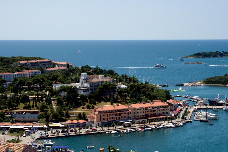 Porto de Vrsar fotografia de stock royalty free