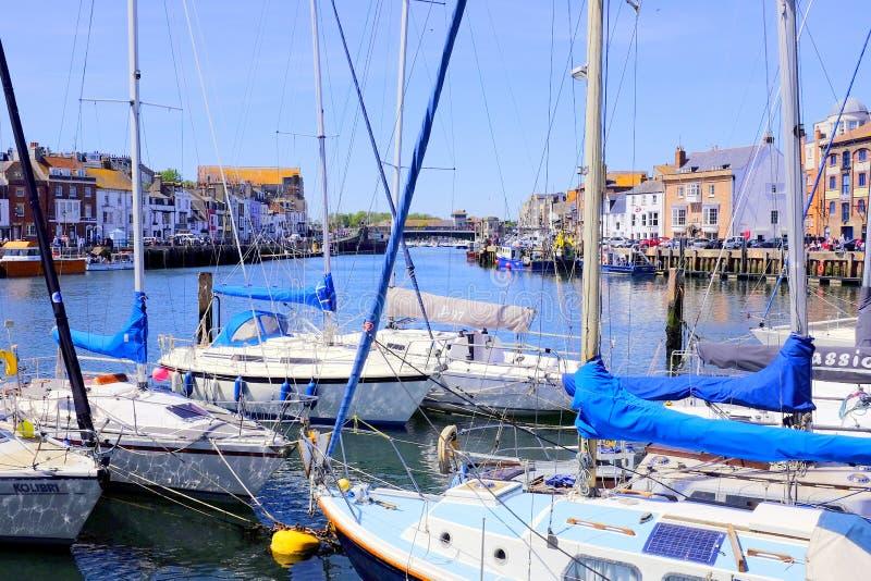 Porto de Weymouth, Dorset, Reino Unido fotografia de stock royalty free