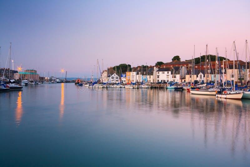 Porto de Weymouth em Dorset fotos de stock