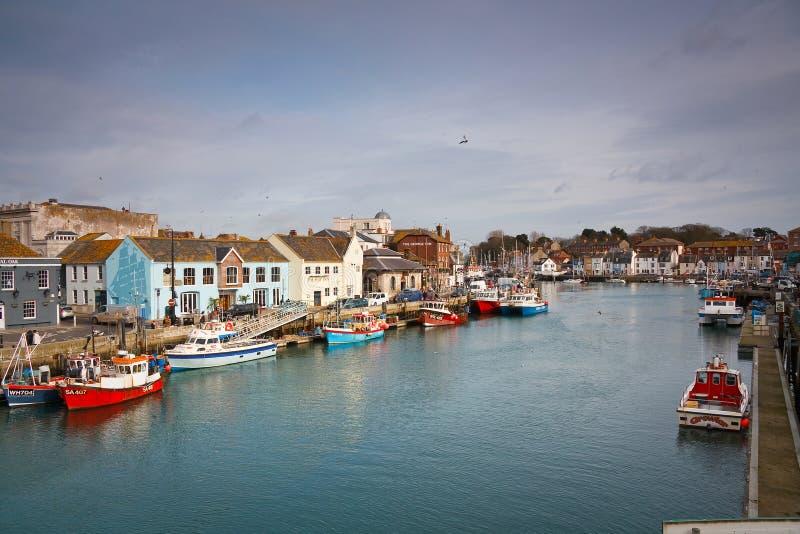 Porto de Weymouth em Dorset imagem de stock