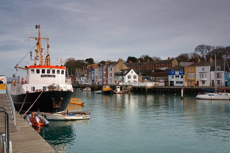 Porto de Weymouth em Dorset fotografia de stock