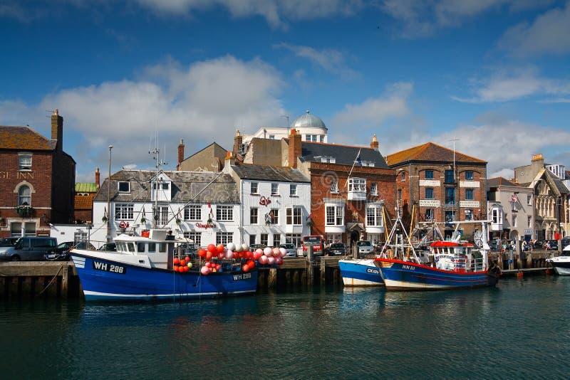 Porto de Weymouth em Dorset imagens de stock royalty free
