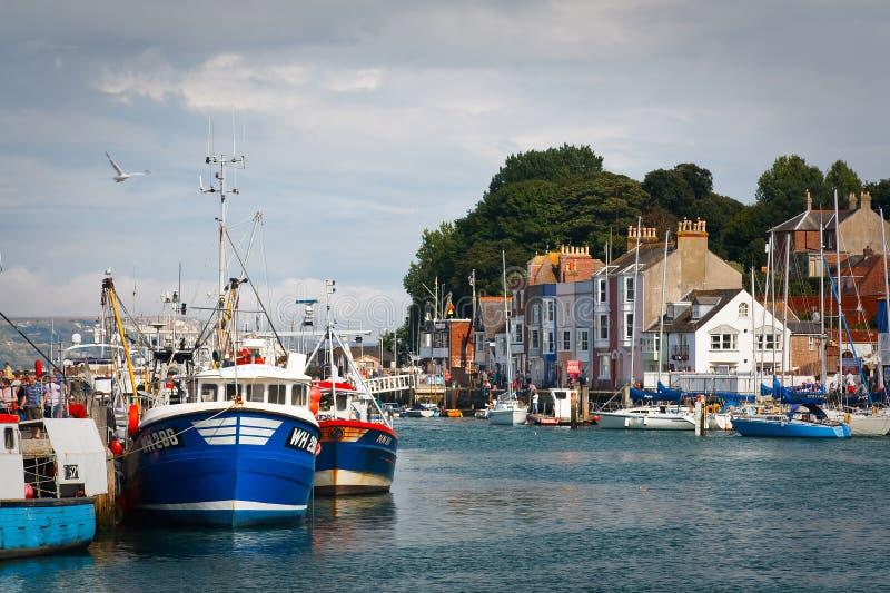 Porto de Weymouth em Dorset foto de stock royalty free