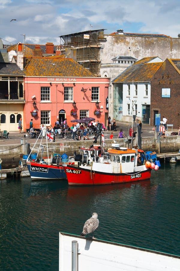 Porto de Weymouth em Dorset imagens de stock