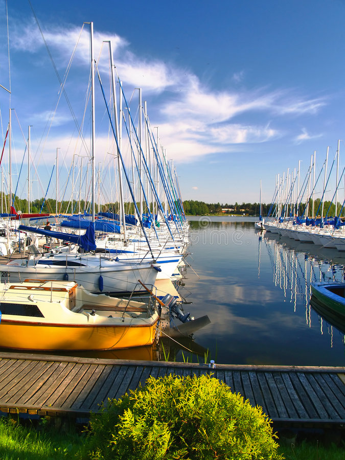 Porto degli yacht fotografia stock libera da diritti