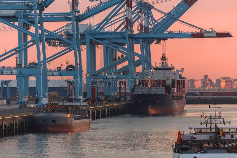 Porto del container - logistica immagini stock