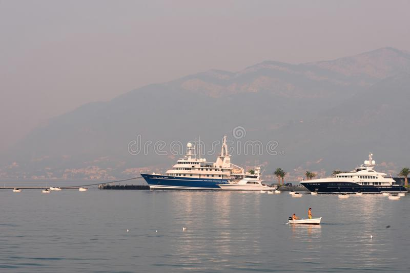 Porto del mare nel Montenegro fotografia stock