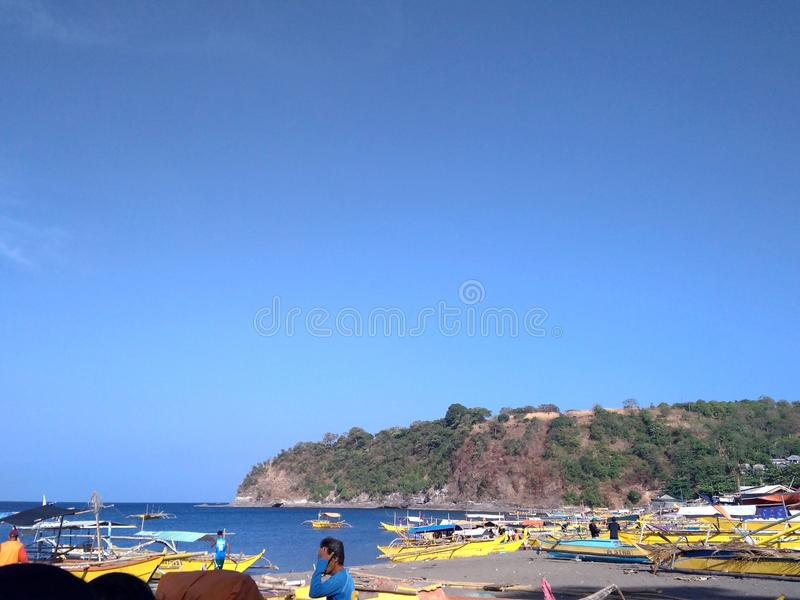 A fishing port in Mariveles. This is at Porto del Sol in Mariveles, Bataan, Philippines. It is where you go first before reaching Laki beach royalty free stock photography