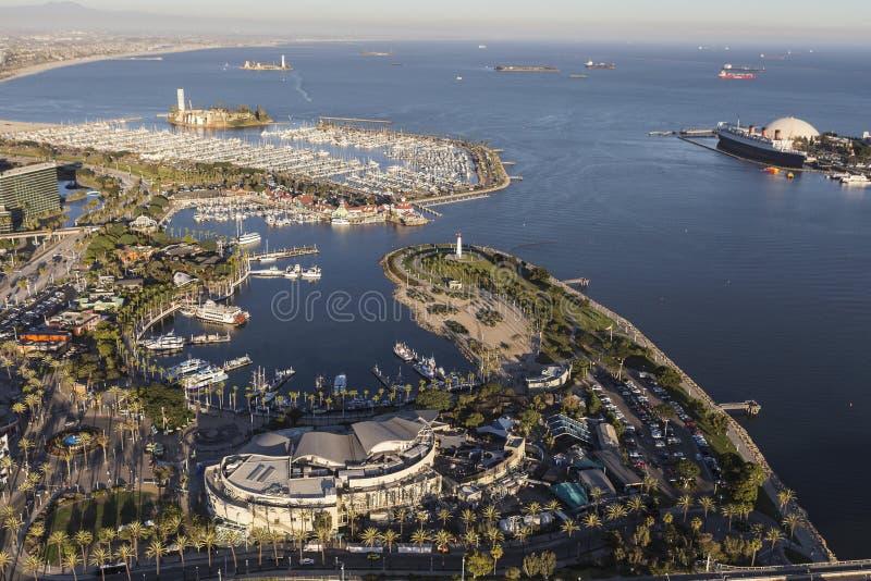 Porto dell'arcobaleno di Long Beach di vista aerea fotografie stock