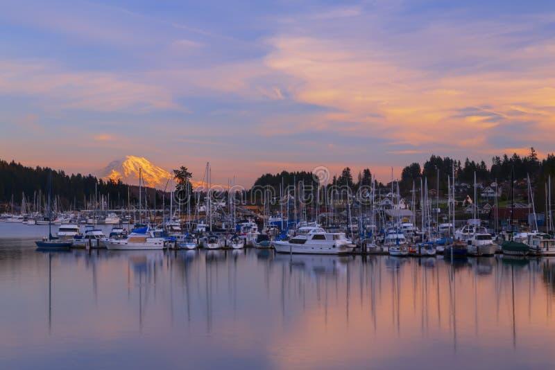 Porto dell'evento, _gennaio, 20 del 2015 di WA U.S.A. Il porto dell'evento è un'attrazione popolare di turismo su Puget Sound fotografie stock libere da diritti