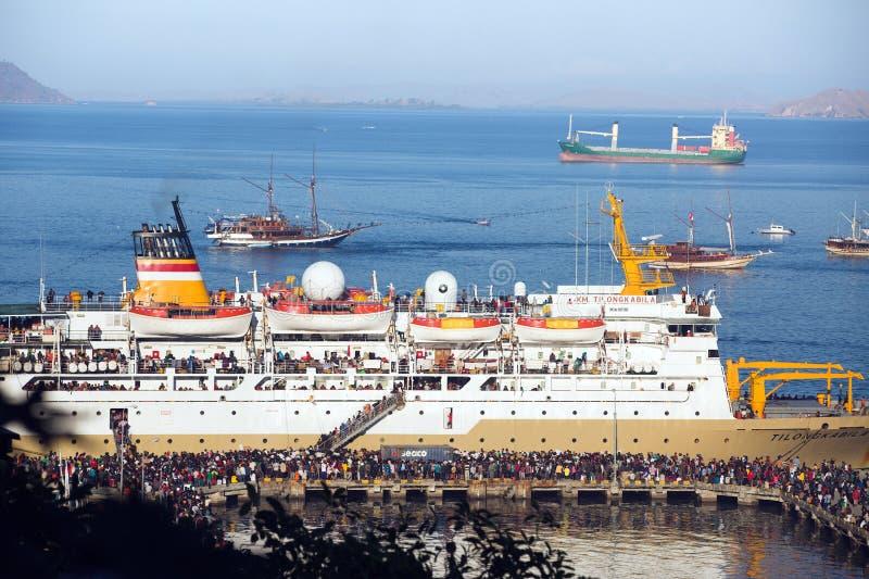 Porto dell'isola del Flores fotografia stock libera da diritti