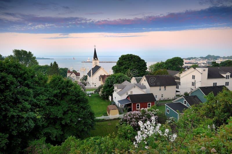Porto dell'isola di Mackinac, Michigan S.U.A. immagine stock
