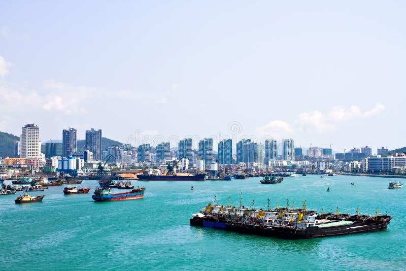 Porto dell'isola di Phoenix di Sanya Cina immagini stock libere da diritti