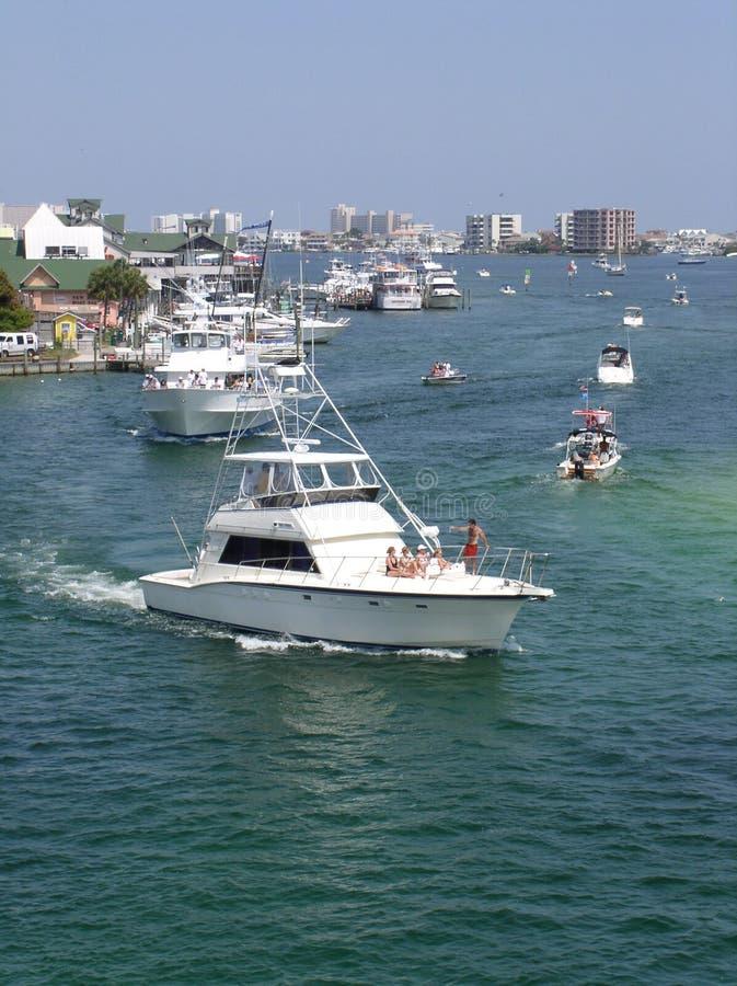 Porto dell'yacht di Destin immagini stock libere da diritti