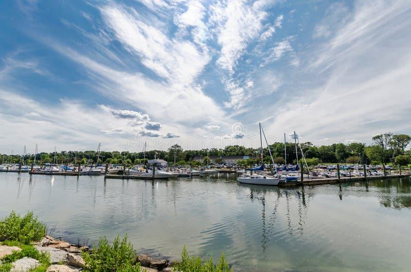 Porto della baia, Connecticut immagine stock