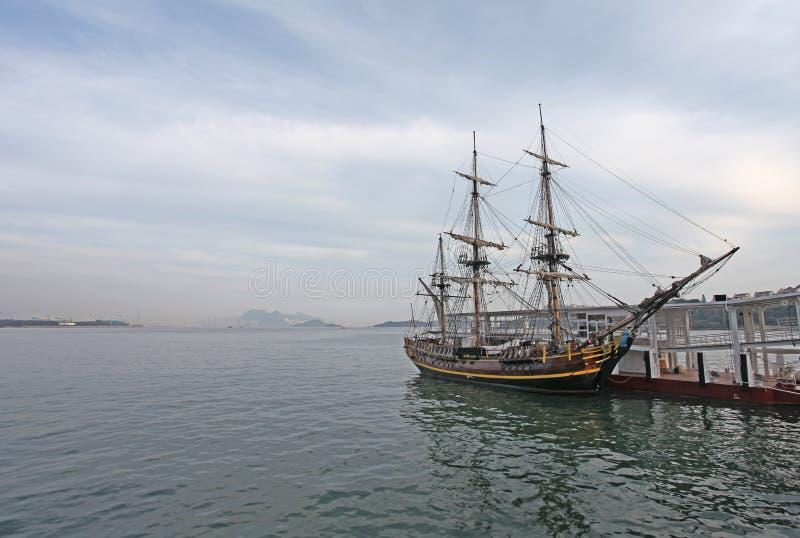 Porto della baia di scoperta, isola di Lantau, Hong Kong fotografia stock