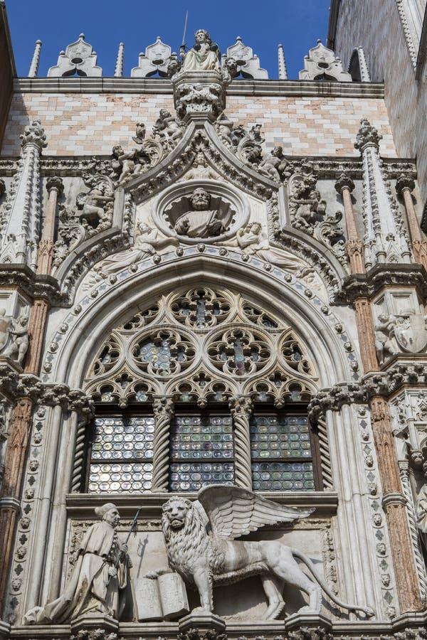 Porto Della Carta in het Doges Palace royalty-vrije stock afbeeldingen