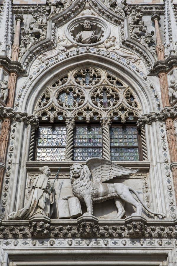 Porto Della Carta in het Doges Palace in Venetië royalty-vrije stock foto
