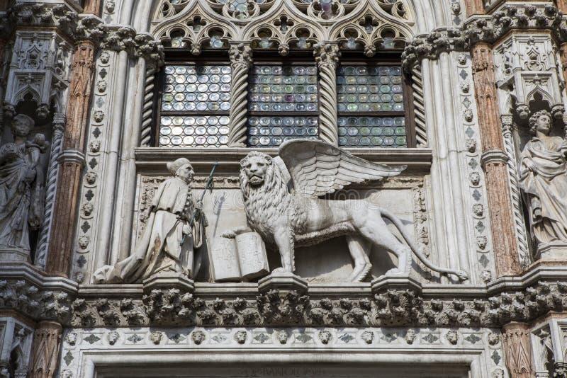Porto Della Carta in het Doges Palace in Venetië royalty-vrije stock foto's