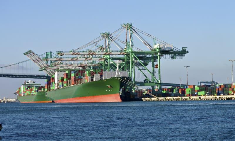 Porto della funzione di industriale di Long Beach California. fotografia stock