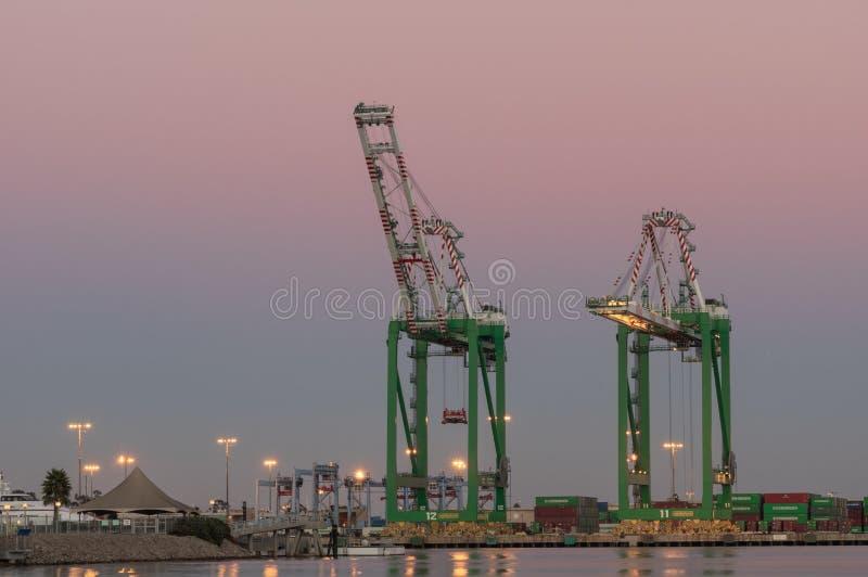 Porto delle gru di Los Angeles fotografia stock