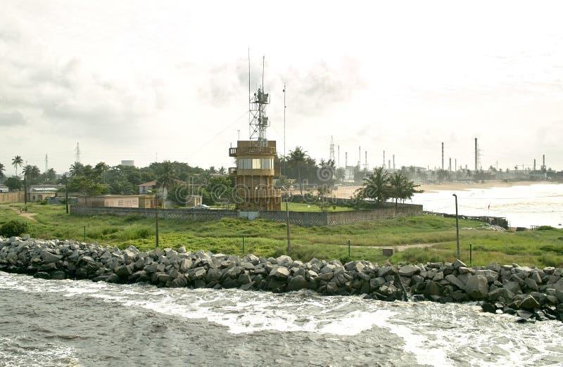 Porto di Abidjan immagine stock