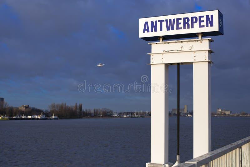 Porto di Anversa fotografia stock