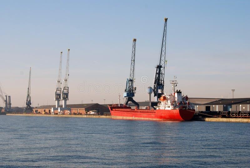 Porto di Anversa immagine stock