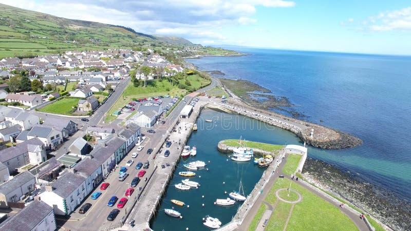 Porto di Ballycastle e porticciolo, Co Antrim Irlanda del Nord fotografia stock