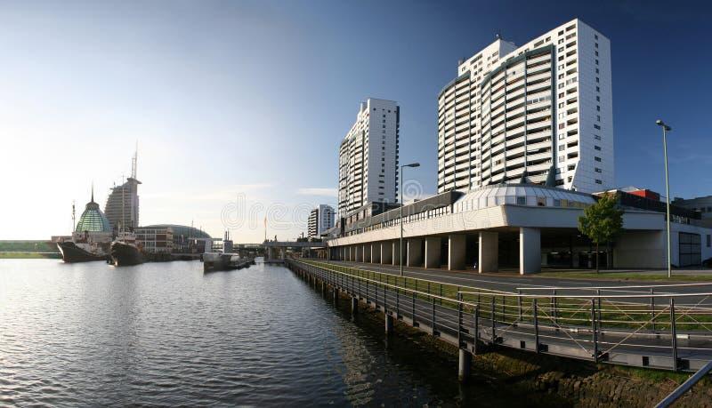 Porto di Bremerhaven, Germania fotografia stock
