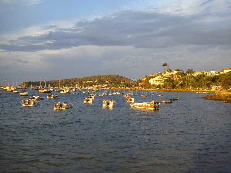 Porto di Buzios fotografie stock libere da diritti