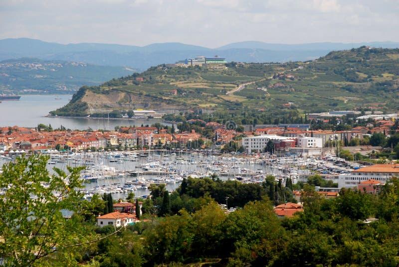 Porto di Capodistria in Slovenia fotografia stock libera da diritti