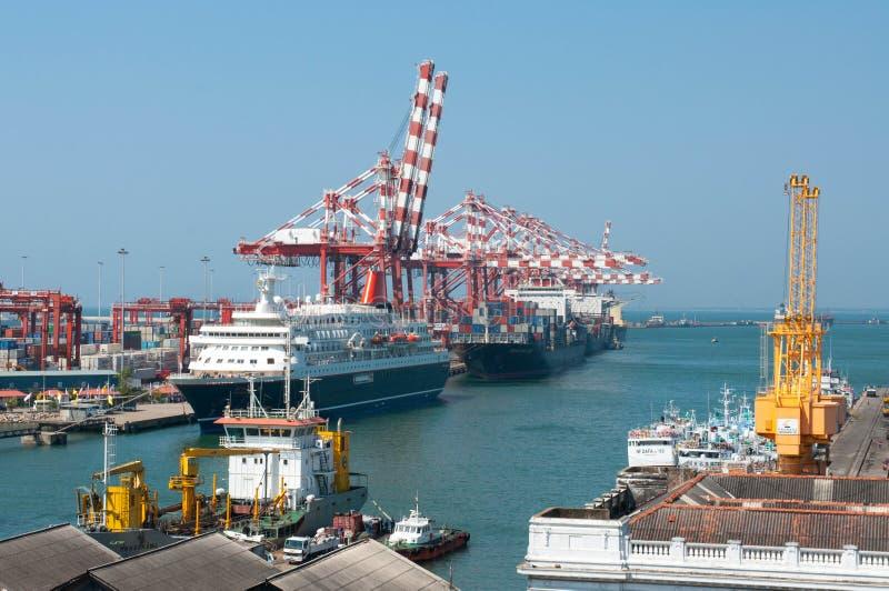 Porto di Colombo nello Sri Lanka fotografia stock libera da diritti