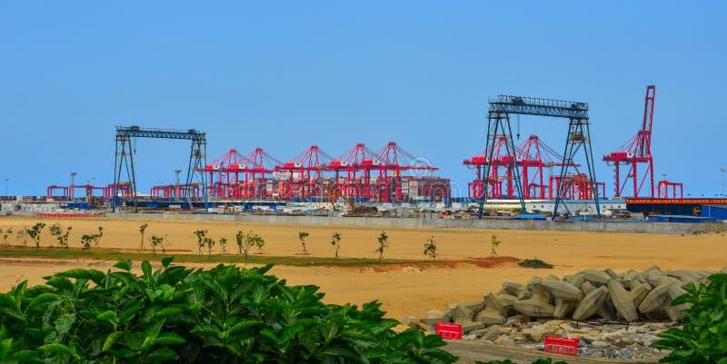 Porto di Colombo, Sri Lanka immagini stock libere da diritti
