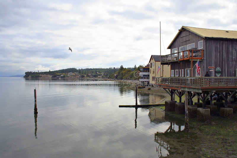 Porto di Coupeville fotografie stock libere da diritti
