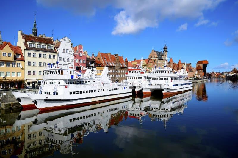 Porto di Danzica, Polonia fotografia stock