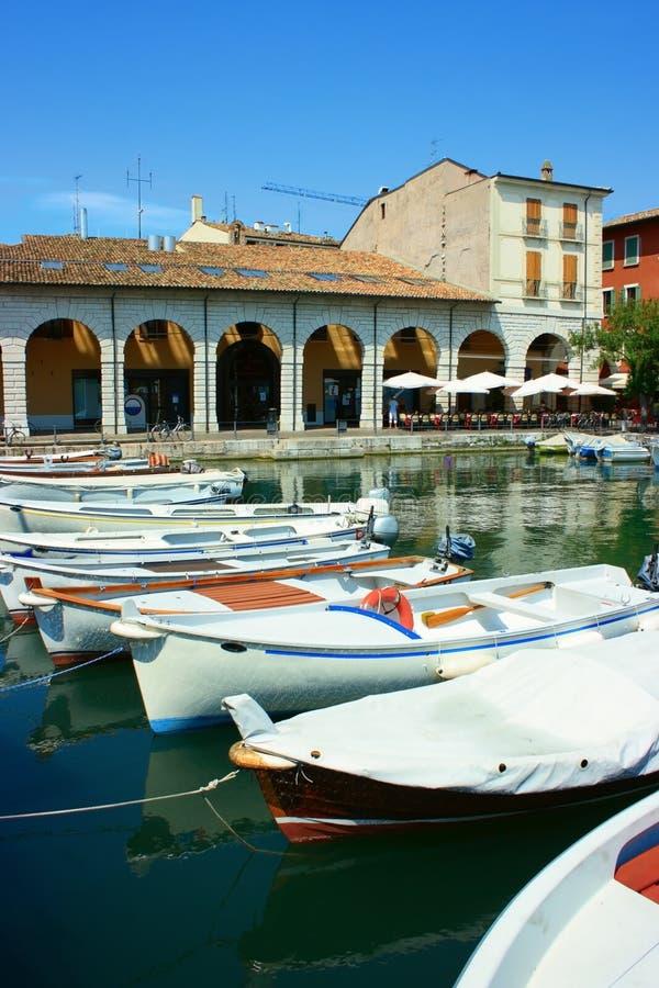 Porto di Desenzano immagini stock