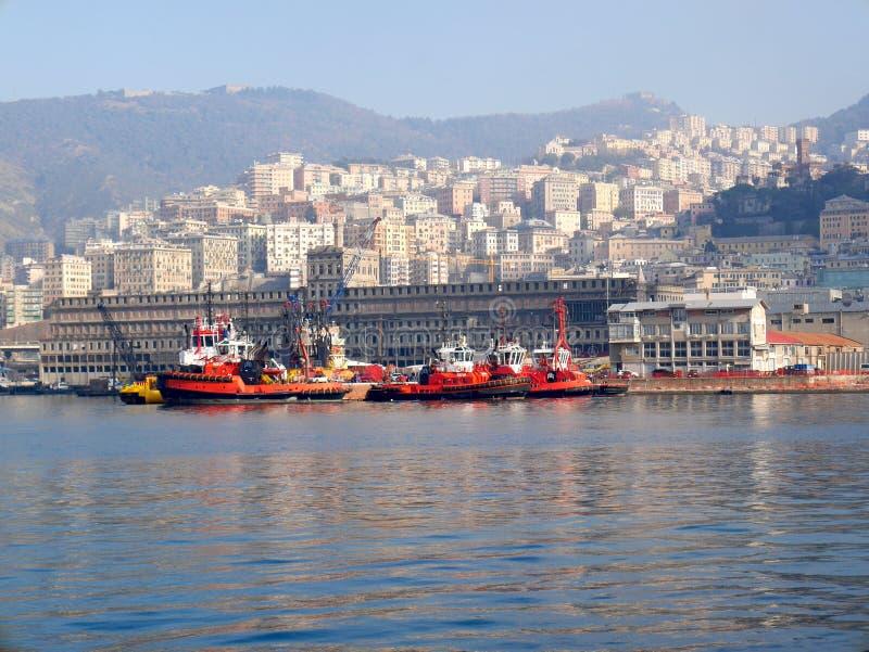 Porto di Genova fotografia stock