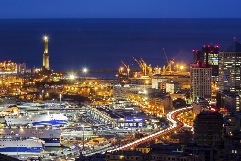Porto di Genova, Italia immagini stock libere da diritti